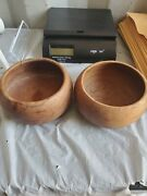 Old Antique Primitive Wooden Wood Plates Meal Bowls Dish Cups Rustic