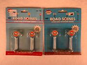 Model Power 706 Ho Scale, Gulf Gas Station Lighted Signs 4 Total Lights, Nos