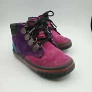 Vintage Hush Puppies Washers Collection Whale Tail Lace Up Colorblock Boots 5