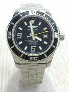 Breitling Super Ocean 44 Automatic Watch Analog Stainless Steel Nvy Slv A17391