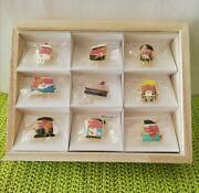 Uncle Tris Suntory Tris Whisky Advertising Character Official Pin Badges 9pcs