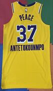 Lakers Team Issued Kostas Antetokounmpo 48+6 Pro Cut Jersey Social Justice
