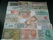 World Paper Money Collection Lots 25 Bank Notes Lot