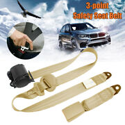 Heavy Duty Three Point 3 Adjustable Car Vehicle Seat Lap Belt Extension Tether