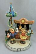 Goebel Hummel - Puppet Theatre Scape Music Box - Puppet Pal And Love Figurines