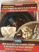 Camco Propane Supply Splitter 4 Port Tee With 12ft And 5ft Hose Brand 59123  New