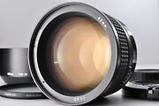 [near Mint+++] Nikon Af 85mm F1.4 D Portrait With Filter And Hood Ship From Japan