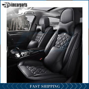 Car Seat Cover For 5-seats Cars Full Set Pu Leather 5-seats Universal Adjustable