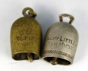 Pair Of Vintage San Michele Bell Capri Italy Wwii Pilot Lucky Charms