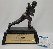 Andre Ware Signed Replica Heisman Trophy Houston Cougars Beckett Wa51729