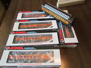 Six Lionel Lighted Illinois Central Passenger Cars, O Gauge