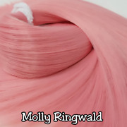 Tdpandtrade Molly Ringwald Coral Pink Doll Hair Hank For Rerooting Dolls And Ponies