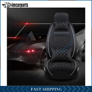 5-seats Car Seat Cover Pu Leather Protector Universal Full Set Black Accessories