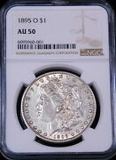 1895-o Morgan Silver Dollar Ngc Au50 Just Conserved And Graded By Ngc Pq Ge757