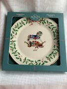Lenox Annual Christmas Holiday Collector's Plate 1992 Rocking Horse  2 Nib