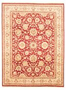 Vintage Hand-knotted Carpet 9and0393 X 12and0393 Traditional Geometric Wool Area Rug