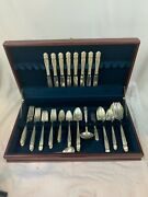 Holmes And Edwards Inlaid Is Silver Plate Danish Princess Flatware 49 Pcs 777