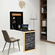Convertible Wall Mounted Table Floating Desk Fold Out Space Saver Chalkboard