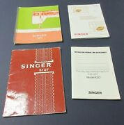 Assortment Of 4 Singer Sewing Machine Manuals Good Condition Intact