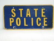 Pennsylvania State Police License Plate 1972-1975 Obsolete Expired Over 3 Years