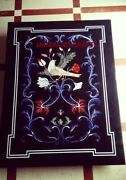 4and039x3and039 Bird Marble Table Top Dining Coffee Center Room Corner Inlay Pietra Dura