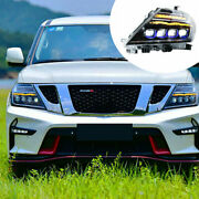 For Nissan Armada 17-20 Led Drl Sequential Turn Signal Hid Headlights Assembly