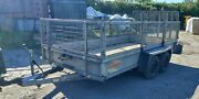 Bateson 12ft X 6ft Plant Trailer With Cage Sides. Recently Serviced. 2600kg.