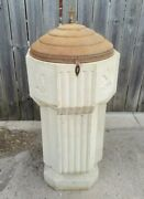 Antique Solid Stone Church Baptismal Holy Water Font-garden Urn