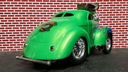 Muscle Machines 1/18 Custom Gasser Green 1941 41 Willys Drag Coupe One Off