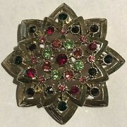 Shirley Temple Personally Worn/used Orig. Gorgeous Multi-stone Fashion Brooch