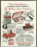 1948 Eversharp-schick Injector Razors Christmas Print Ad Five Gifts That Click