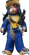 Duck House Heirloom Collectable Doll Native American Hinton Painted Face W Stand