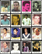 Extremely Rare 70s Cards Lot Football Soccer 16 International Players Ldlm 1977