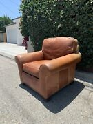 Leather Club Chair Fireside Chair Roosevelt Chair - High End Whittemore Sherrill