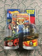 Hot Wheels Video Pack World Race Ring Of Fire Ballistik And 1/4 Mile Coupe Set Nib