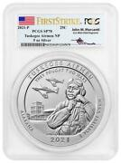 2021-p 5 Oz Silver Tuskegee Airmen National Atb Pcgs Sp70 Fs Mercanti Signed