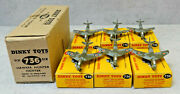 Dinky Toys 736 Raf Hawker Hunter Fighters X 6 In Dealers Buff Trade Box