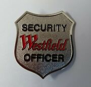Genuine Westfield Security Officer Issue Large Pin Shield Cap Badge - New