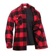 Concealed Carry Red Flannel Zip Shirt Ccw Buffalo Plaid Tactical Jacket Top S-3x