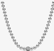 💎pandora 925 Sterling Silver New Beads And Pavé Necklace
