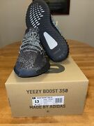 🔥adidas Yeezy Boost 350 V2 Black Reflective Menand039s Fashion Sneakers Size 13