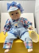 Anco Merchandise Co 1991 16 Shelf Sitting Baby Doll Jamie In Blue Overall