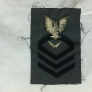 Vintage Military Patch Navy Cpo Yeoman Chief Petty Officer Bullion Variant