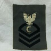 Vintage Military Patch Navy Ships Cook Cpo Chief Petty Officer Bullion Variant