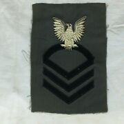 Vintage Military Patch Navy Cpo Chief Petty Officer Bullion Variant Blank Rank