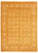 Vintage Hand-knotted Carpet 9and0390 X 12and0395 Traditional Geometric Wool Area Rug