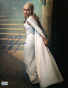 Emilia Clarke Signed Autograph And039game Of Thronesand039 11x14 Photo Beckett Bas Got 17