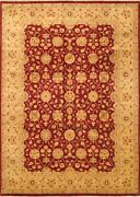 Vintage Hand-knotted Carpet 8and0393 X 11and0398 Traditional Oriental Wool Area Rug
