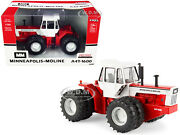 Minneapolis-moline A4t-1600 Tractor Red And White 1/32 Diecast By Ertl/tomy 16404