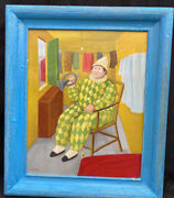 1960s South American Impressionist Oil Painting Of Clown Andldquo Fernand Botero Andldquo